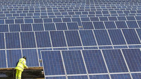 Solar farm developers are hoping to gain approval at Stratton Hall, next to the A14 between Levingto