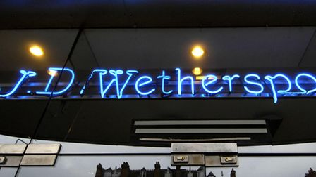 File photo dated 20/01/09 of a general view of a JD Wetherspoon pub in central London as the pub cha