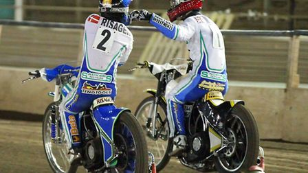 Morten Risager (blue) & Leigh Lanham celebrate a 5-1 last season. Will they be paired together again