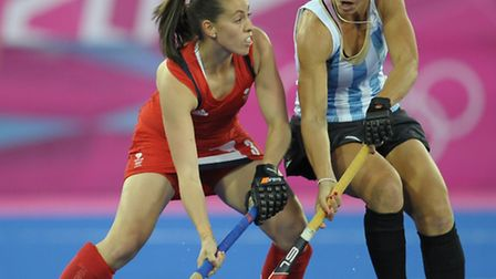 Team GB hockey star and Olympic bronze medallist Emily Maguire in action in the London 2012 Olympics