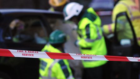 Man, 32, fiighting for his life after crash between a car and a lorry.
