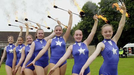 The Abbey Twirlettes performing at Wattisfield Festival in July 2000. Are you in the picture?