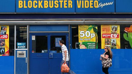 A Blockbuster video store in London