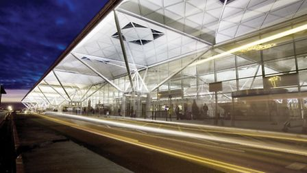 A man was found to have swallowed 100 bags pof heroin at Stansted Airport