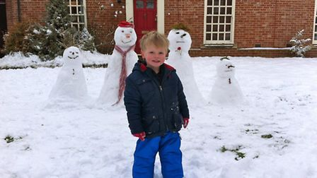 Ellen's son and his snow people