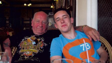 Macauley and his granddad Gordon Ryder on the family holiday in Turkey last year.
