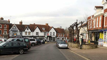 Large parts of Framlingham were affected by a power cut on Sunday