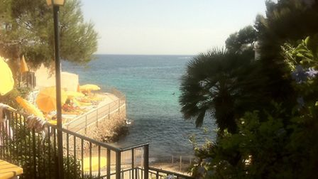 The view from the private beach at the Hotel Bon Sol