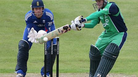 Ben Foakes keeping wicket for England Under-19 during a one-day international against Ireland at Gra