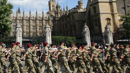 More than 300 troops, like the ones pictured, lost £1.2million after a soldiers' lettings agency wen