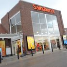 The Sainsbury's superstore at Warren Heath, where thieves have been raiding the recycling banks.