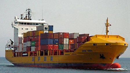 The OPDR Cadiz, which will feature on the new Felixstowe-Casablanca route
