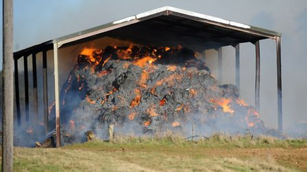Suffolk Fire and Rescue Service attended the scene of a barn fire in Sutton on Sunday afternoon.