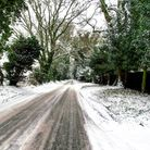 A snowy scene on Straight Road, Foxhall