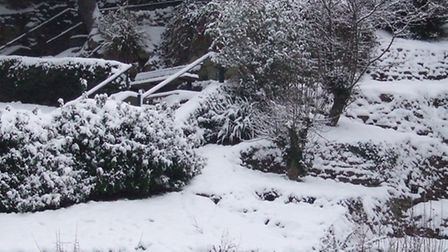 Felixstowe's Spa Gardens looking a picture int he snow.