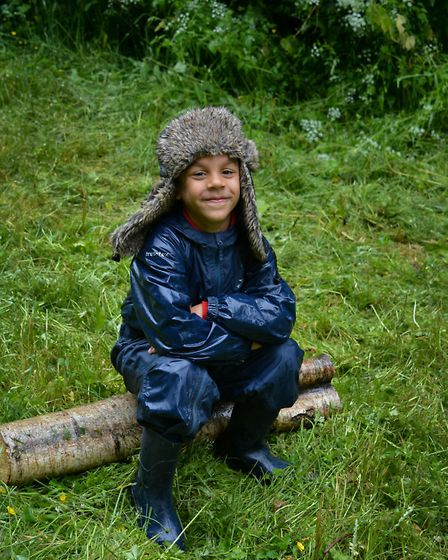 Pupils from Banham Primary School take a trip to the woods. Picture: Rupert Taylor