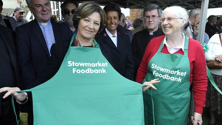 Delia Smith at the launch of the Stowmarket Foodbank at Stowmarket Town Council Offices.