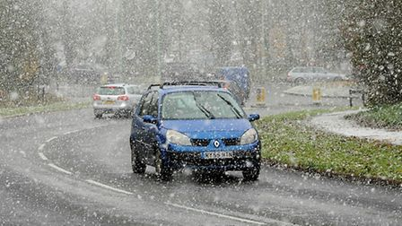 More snow is predicted this weekend across Suffolk as the temperature hovers around freezing.