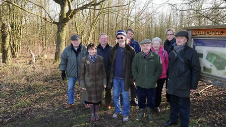 Gallowsfield Wood is officially handed over to Haughley Parish Council.