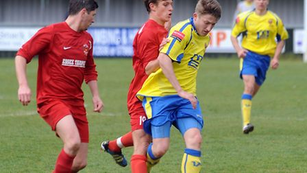 AFC Sudbury's Sam Clarke, right, is returning to action after five months on the sidelines
