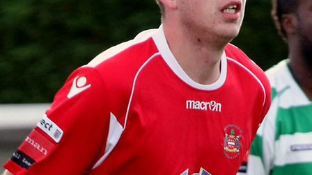 Needham Market defender Nathan Clarke, who is set to join Walsham-le-Willows on loan