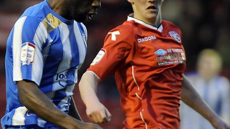 U's new permanent signing, Jabo Ibehre, in action during his last loan game for the U's at Walsall