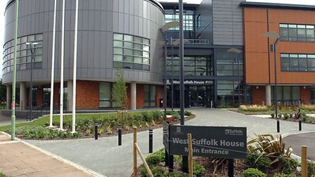 West Suffolk House in Bury which is home to St Edmundsbury Borough Council