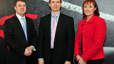 From left, James Francis, Danny Clifford and Jan McLean of Ensors Chartered Accountants