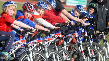 Children get the chance to take part in a Go Ride cycling taster session where they win medals and r