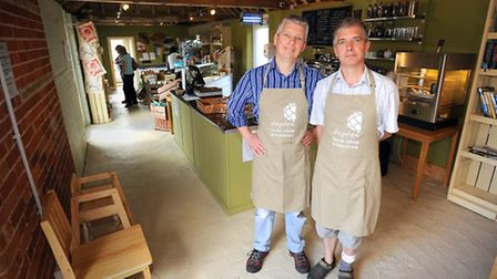Country Life feature on Tim Freathy (left) and Mark Leadbeater, who have just opened Depden Farm Sho