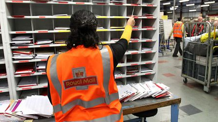 Postal worker denies theft charges - stock photo