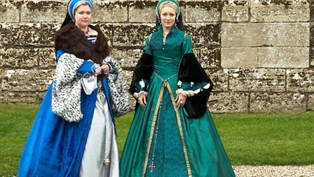The Tudor Roses in their authentic-looking Tudor gowns will be taking part in Captured in Hedingham