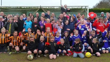 The teams that took part in the girls' festival at Beccles