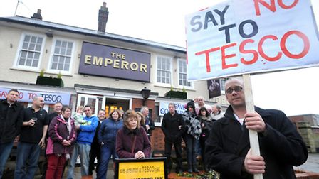 Protesters have lost the battle to save The Emperor pub.