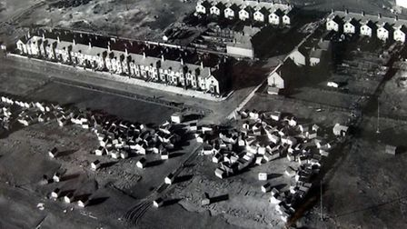 Felixstowe: Manor Terrace and the resort's south seafront the day after the 1953 floods struck.