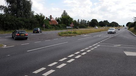 The A120 Little Bromley and Little Bentley junction