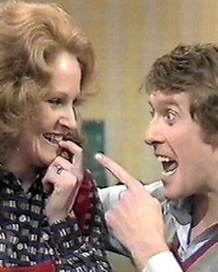 Michele Dotrice and Michael Crawford in the classic sit-com Some Mothers Do 'Ave 'Em
