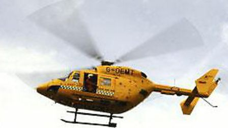 Busy weekend for the air ambulance