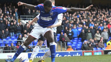 Jay Emmanuel Thomas in action for Ipswich.