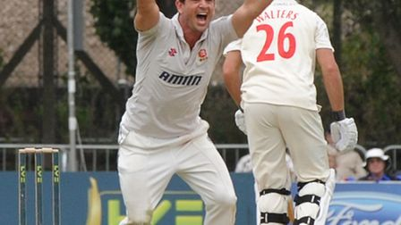 Essex's Ryan ten Doeschate appeals for a wicket against Glamorgan