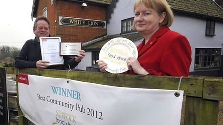 Stephen and Gaynor Thurlow of The White Lion