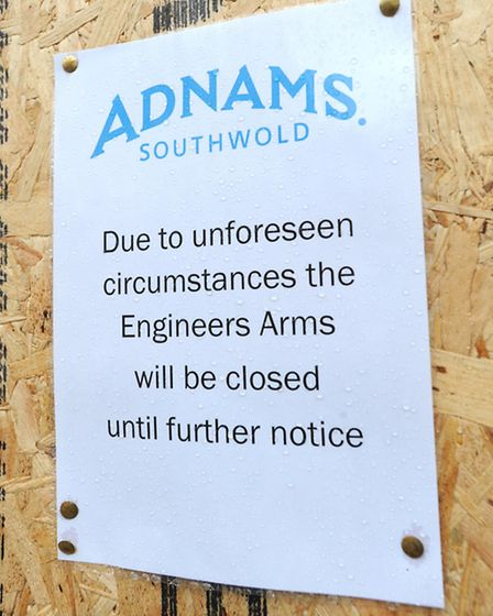 Due to unforeseen circumstances, The Engineers Arms in Leiston has been forced to close.