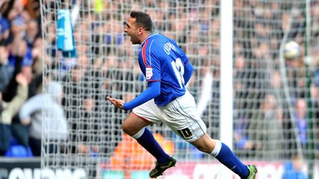 Ipswich Town V Blackpool Npower Championship Celebrations after Michael Chopra scores for Ipswich