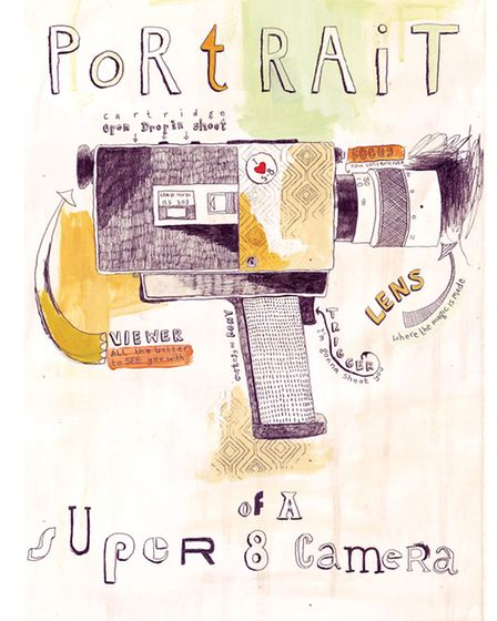 Portrait of a Super 8 Camera by Harriet Quilty Images from Flicker: Artists & Super 8 exhibition at