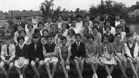 Combs Ford Primary School in 1962 in a picture sent in by EADT reader Jean Cobbold (nee Owen) of Sto