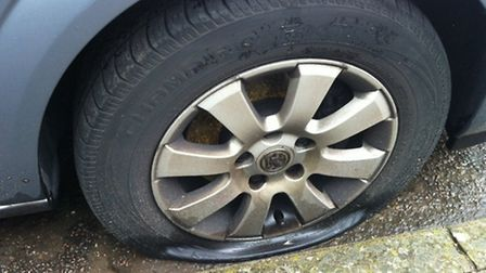 22 car tyres have been slashed in Ipswich