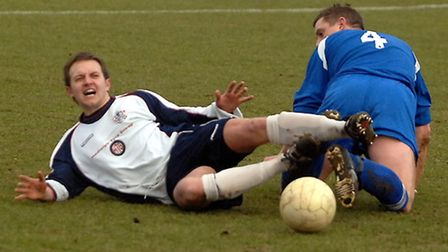 Craig Payne, left, pictured while playing for Hadleigh United