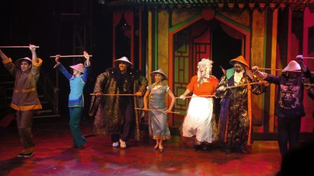 EADT FEATURES/NEWS Aladdin - A Magical Pantomime at the Theatre Royal Big Top in Nowton Park, Bur