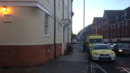 A man in his 20s died after collapsing at an address in Fore Street