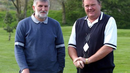 Steve Page, left, with Tony Armstrong at Harwich Golf Club